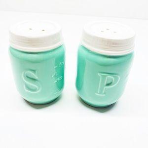 Mint Colored Salt & Pepper Shakers